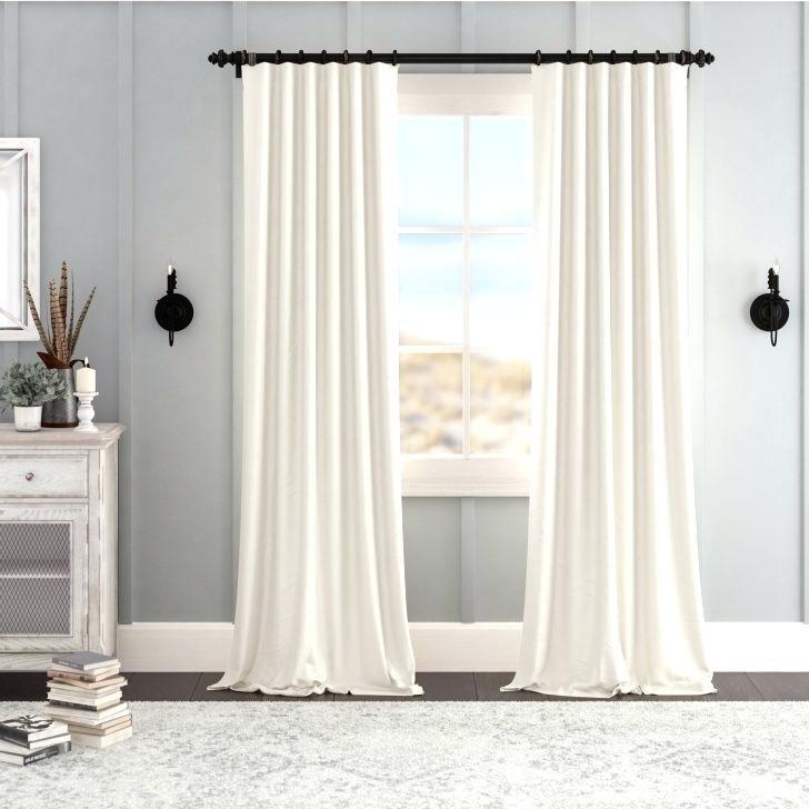Inspiration about Ivory Velvet Curtains – Holyhealthcare Within Signature Ivory Velvet Blackout Single Curtain Panels (#17 of 50)