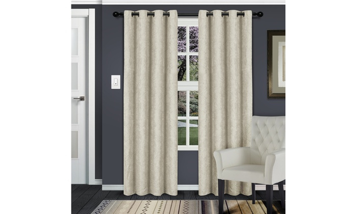 Ivory Waverly Insulated Thermal Blackout Grommet Curtain Intended For Solid Insulated Thermal Blackout Long Length Curtain Panel Pairs (View 21 of 50)