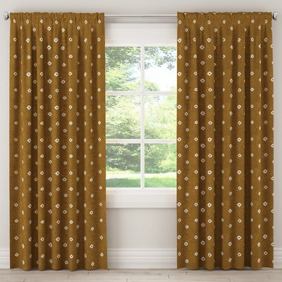 Ivy Bronx Echevarria Geometric Rod Pocket/tab Top Single Within Archaeo Jigsaw Embroidery Linen Blend Curtain Panels (#11 of 25)