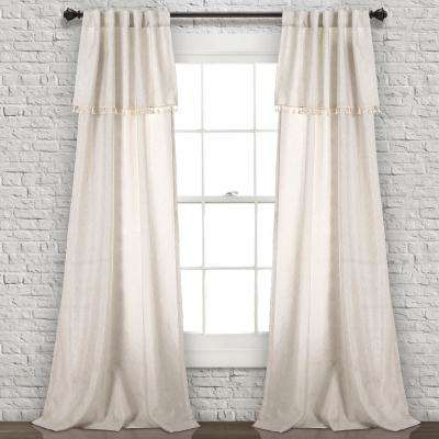 "Inspiration about Ivy Tassel Window Panels Neutral 84"" X 40"" 2 Pc Set 90% Polyester, 10% Linen With Lydia Ruffle Window Curtain Panel Pairs (#14 of 43)"