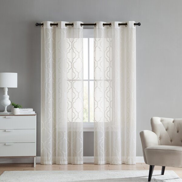 Jaclyn Love Curtains | Wayfair With Kida Embroidered Sheer Curtain Panels (#22 of 50)