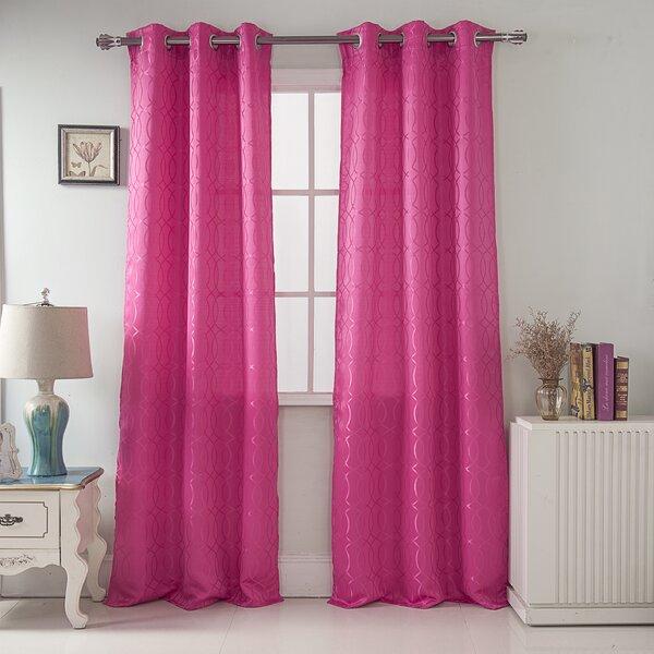 Jacquard Curtains | Wayfair (View 31 of 50)