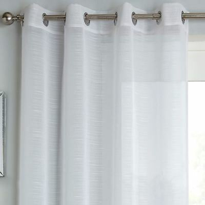 Jazz Eyelet Voile Panel Sheer Linen Style Slub Ring Top Within Archaeo Slub Textured Linen Blend Grommet Top Curtains (View 19 of 37)