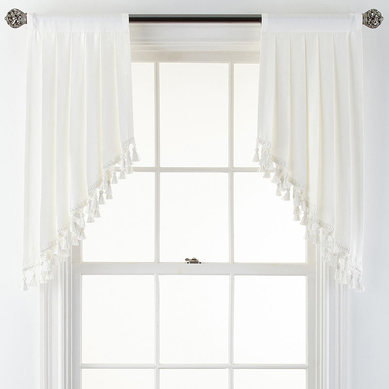 Jcpenney Home Supreme Rod Pocket Swag Pair In 2019 With Regard To Kaylee Solid Crushed Sheer Window Curtain Pairs (#18 of 40)