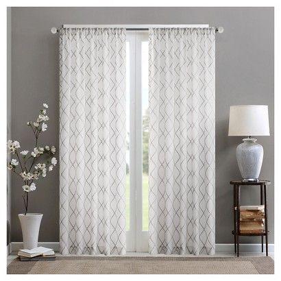 Jla Home Clarissa Diamond Sheer Curtain Panel | Home Sweet With Regard To Laya Fretwork Burnout Sheer Curtain Panels (View 12 of 38)