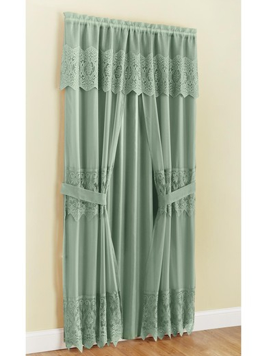 Joelle Lace Curtain | Carolwrightgifts Within Luxury Collection Summit Sheer Curtain Panel Pairs (#34 of 50)