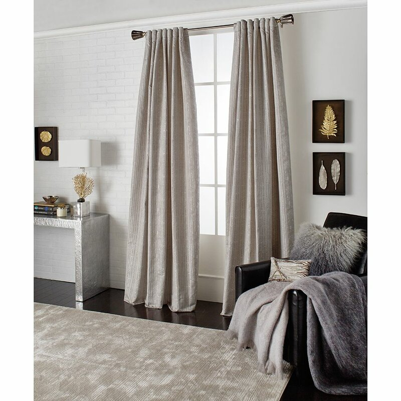Joshua Tree Striped Rod Pocket Single Curtain Panel With Single Curtain Panels (View 19 of 36)