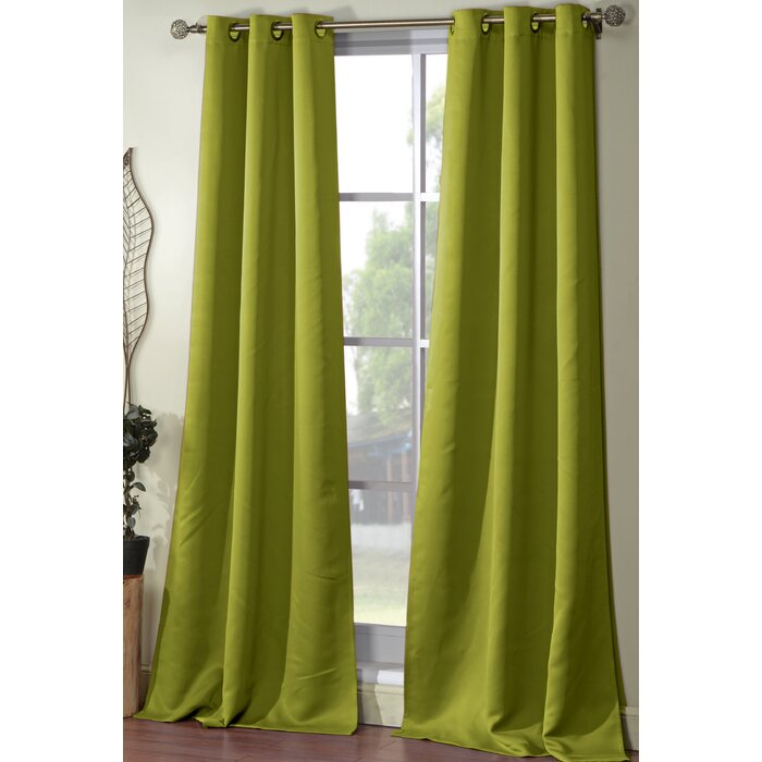 Joss & Main Essentials Solid Blackout Grommet Curtain Panels With Regard To Blackout Grommet Curtain Panels (View 18 of 40)