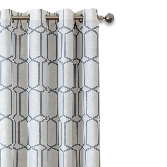 Kaiden Geometric Max Blackout Thermal Grommet Single Curtain Pertaining To Kaiden Geometric Room Darkening Window Curtains (#20 of 39)