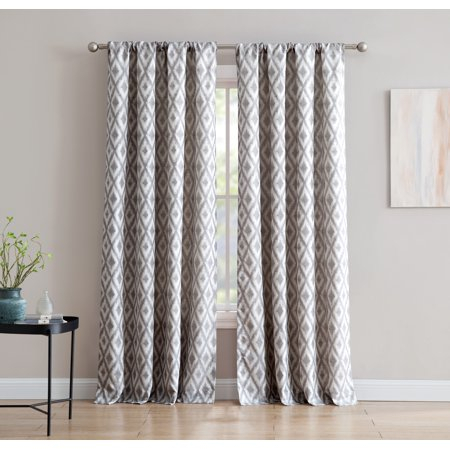 Kalahari Jacquard 84 Inch Window Curtain With Rod Pocket Regarding Sunsmart Dahlia Paisley Printed Total Blackout Single Window Curtain Panels (View 10 of 45)