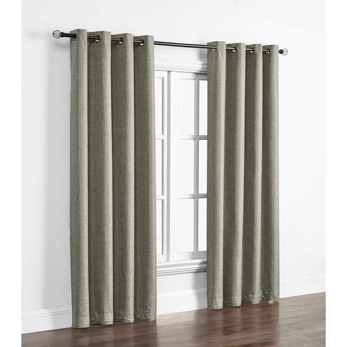 Kali Solid Indoor/outdoor Polyester Max Blackout Thermal Single Curtain Panel For Davis Patio Grommet Top Single Curtain Panels (View 12 of 39)