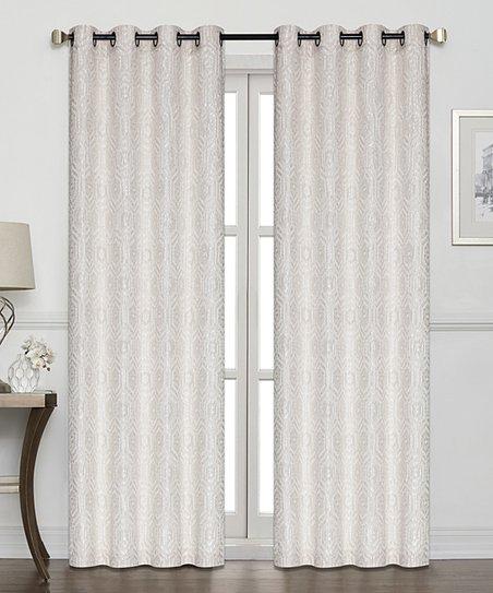 Kate Aurora Linen Jacquard Geometric Semi Sheer Room Darkening Curtain  Panel – Set Of Two Intended For Geometric Linen Room Darkening Window Curtains (View 28 of 50)