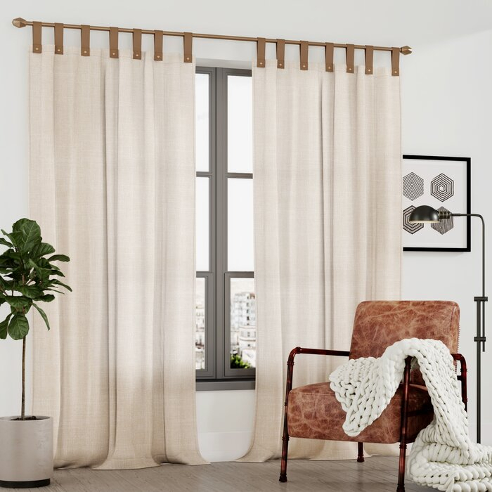 Kaufman Solid Semi Sheer Tab Top Single Curtain Panel Intended For Tab Top Sheer Single Curtain Panels (View 25 of 50)