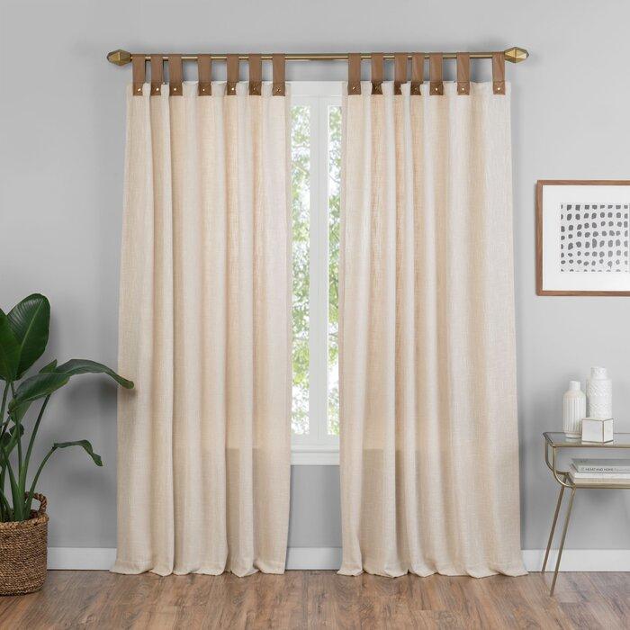 Kaufman Solid Semi Sheer Tab Top Single Curtain Panel Within Tab Top Sheer Single Curtain Panels (View 9 of 50)