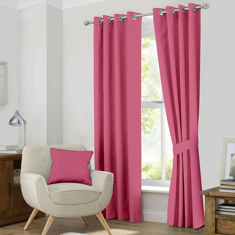 Kaylee Solid Blackout Thermal Grommet Curtain Panels For Kaylee Solid Crushed Sheer Window Curtain Pairs (#20 of 40)