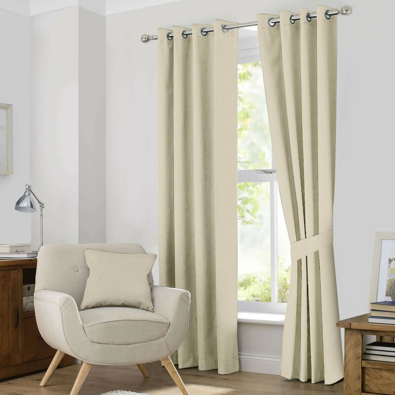 Kaylee Solid Blackout Thermal Grommet Curtain Panels Regarding Kaylee Solid Crushed Sheer Window Curtain Pairs (#21 of 40)