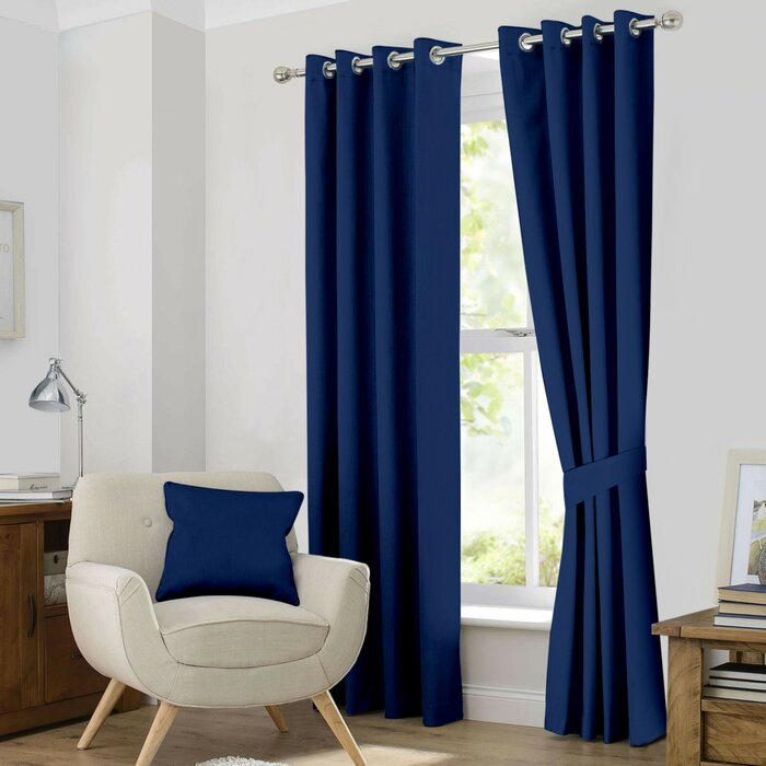 Kaylee Solid Blackout Thermal Grommet Curtain Panels With Regard To Solid Insulated Thermal Blackout Long Length Curtain Panel Pairs (View 32 of 50)