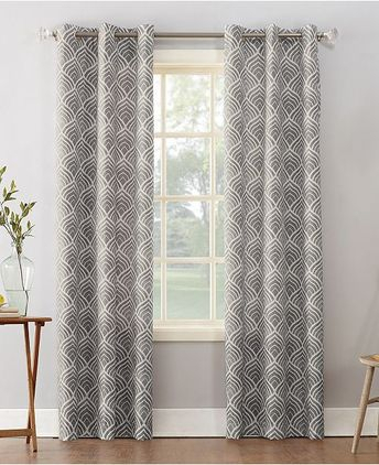 "Kelvin Maya Knit 96"" Grommet Top Room Darkening Window Curt Intended For Copper Grove Fulgence Faux Silk Grommet Top Panel Curtains (View 26 of 50)"