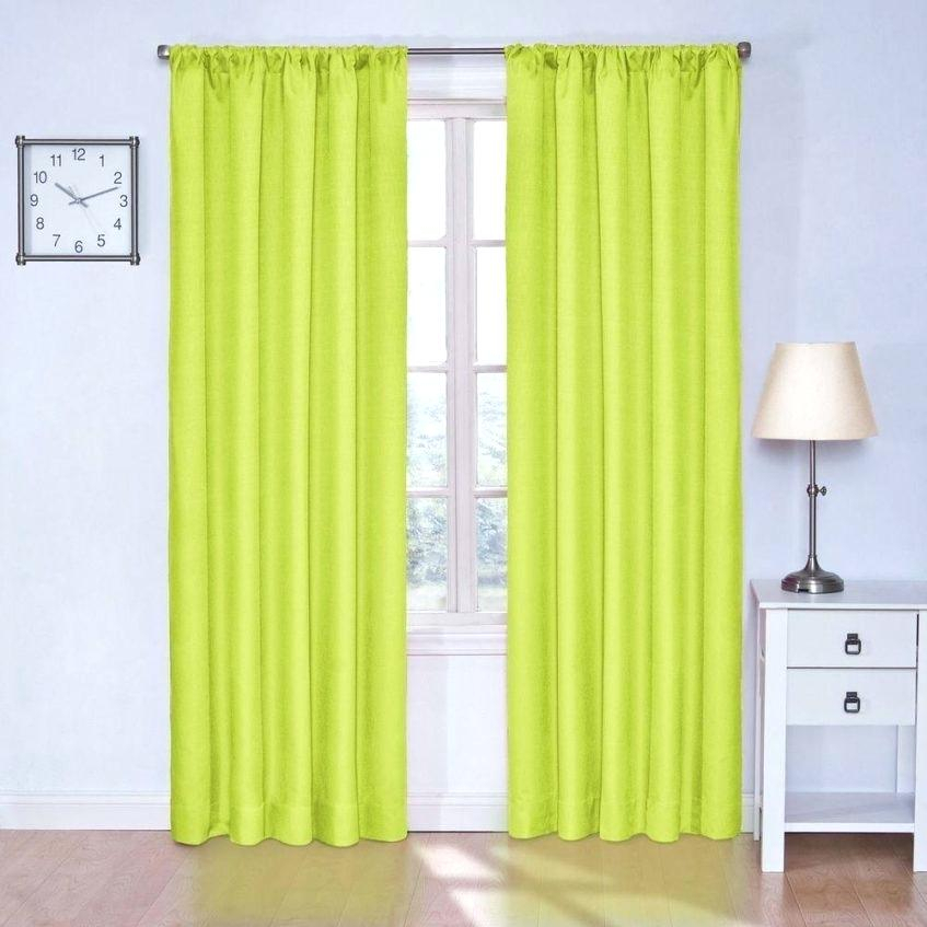 Kendall Curtains Eclipse Blackout Lime Curtain Panel In Intended For Eclipse Kendall Blackout Window Curtain Panels (#16 of 19)