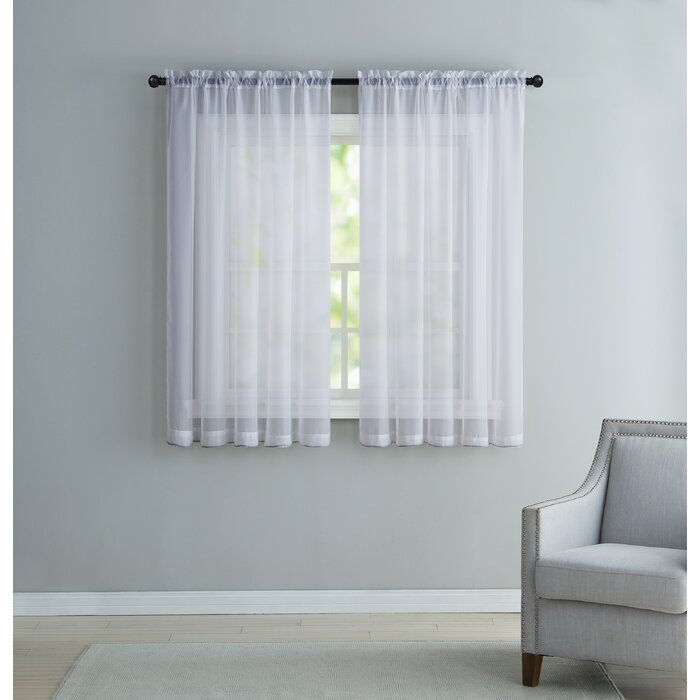 Kenton Solid Sheer Rod Pocket Single Curtain Panel Throughout Arm And Hammer Curtains Fresh Odor Neutralizing Single Curtain Panels (View 34 of 50)