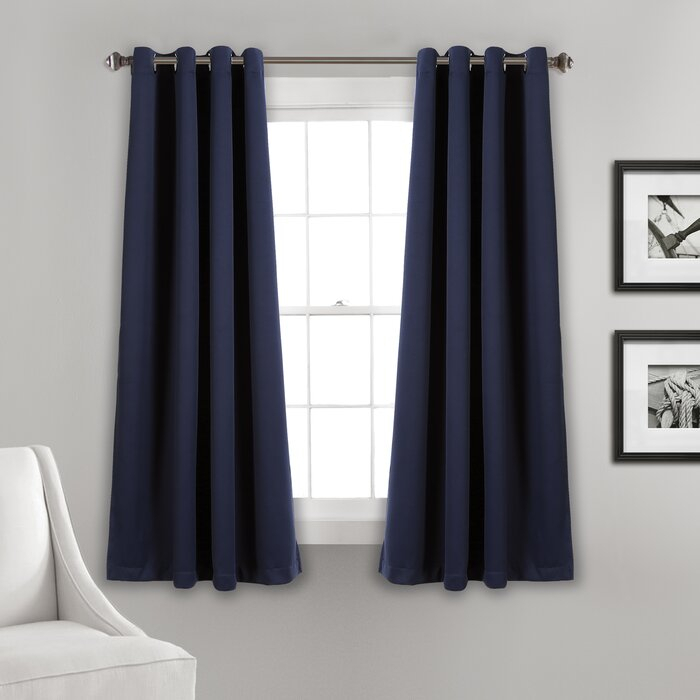 Ketterman Solid Thermal Blackout Grommet Window Panel Pair In Insulated Blackout Grommet Window Curtain Panel Pairs (#25 of 37)