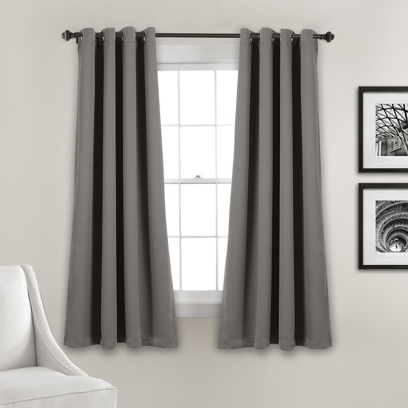 Ketterman Solid Thermal Blackout Grommet Window Panel Pair Within Insulated Blackout Grommet Window Curtain Panel Pairs (#27 of 37)