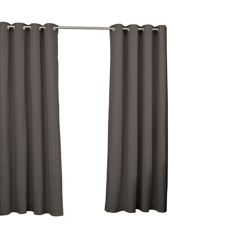 Key Largo Solid Semi Sheer Thermal Grommet Single Curtain Panel In Patio Grommet Top Single Curtain Panels (View 14 of 38)