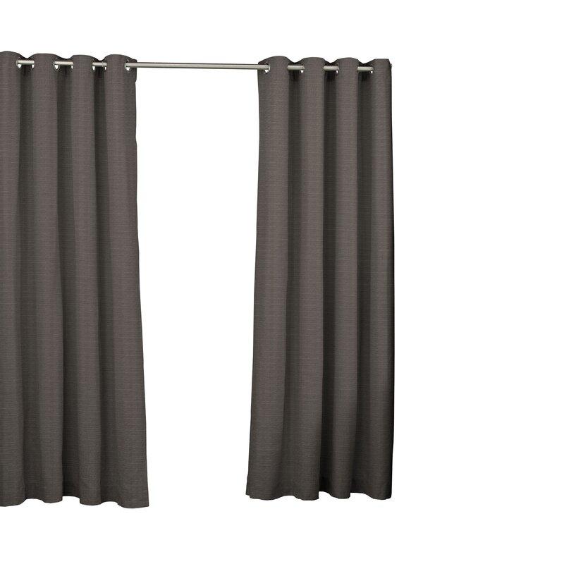 Key Largo Solid Semi Sheer Thermal Grommet Single Curtain Panel In Patio Grommet Top Single Curtain Panels (#15 of 38)