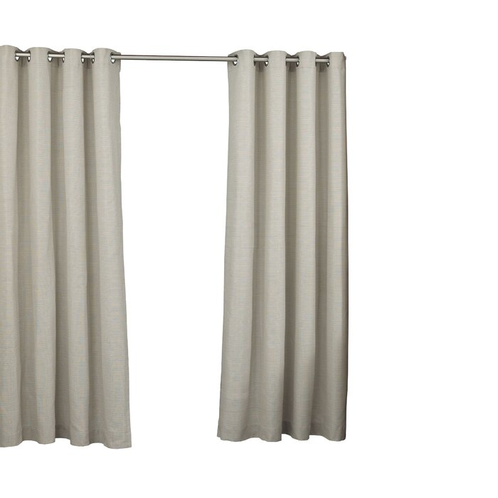 Key Largo Solid Semi Sheer Thermal Grommet Single Curtain Panel Pertaining To Patio Grommet Top Single Curtain Panels (#16 of 38)