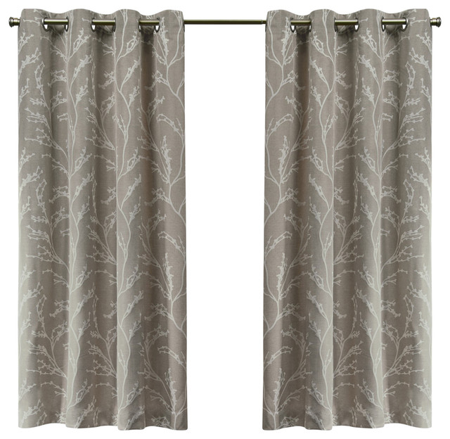 Kilberry Woven Blackout Grommet Top Window Curtain Panel Pair, 52X63,  Natural Within Julia Striped Room Darkening Window Curtain Panel Pairs (#18 of 37)