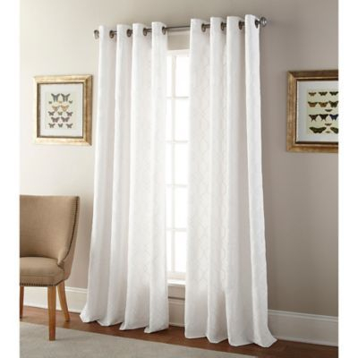 """Kings Gate 84"""" Grommet Window Curtain Panel In White In 2019 Throughout Sunsmart Abel Ogee Knitted Jacquard Total Blackout Curtain Panels (View 10 of 19)"""