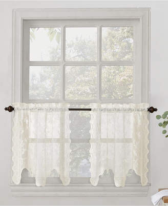 Kitchen Tier Curtains – Shopstyle Throughout Alison Rod Pocket Lace Window Curtain Panels (View 20 of 44)