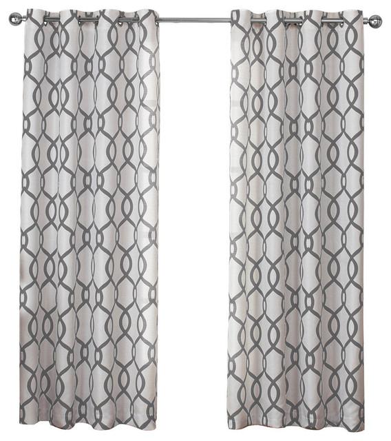 Kochi Grommet Top Window Curtain Panels, Set Of 2/pair Panels, Black Pearl Inside Kochi Linen Blend Window Grommet Top Curtain Panel Pairs (View 3 of 36)
