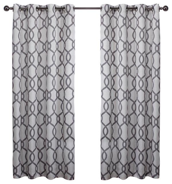 Kochi Linen Blend Grommet Top Window Curtain Panel Pair, 54X108, Black Pearl Pertaining To Baroque Linen Grommet Top Curtain Panel Pairs (View 31 of 48)