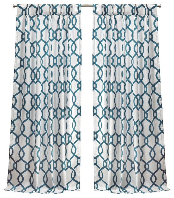 "Kochi Linen Blend Pinch Pleat Curtain Panel Pair, Teal, 84"" Within Kochi Linen Blend Window Grommet Top Curtain Panel Pairs (#32 of 36)"
