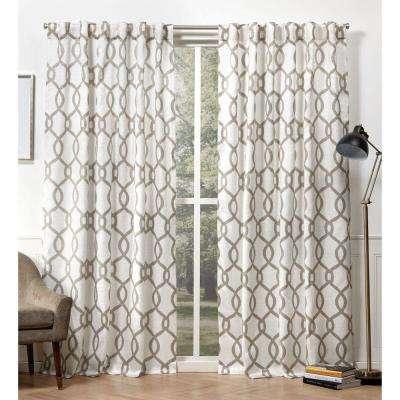 Kochi Natural Room Darkening Hidden Tab Top Curtain Panel – 54 In. W X 84  In (View 32 of 48)