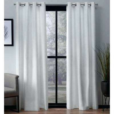 Inspiration about L Woven Blackout Grommet Top Curtain Panel White Panels N With Thermal Woven Blackout Grommet Top Curtain Panel Pairs (#38 of 43)
