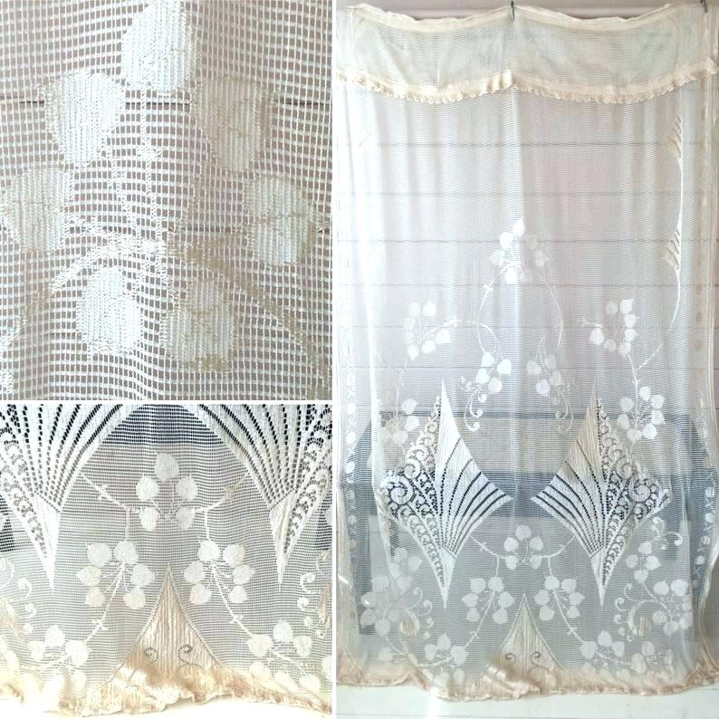 Lace Curtain Panel Vintage Panels Antique Victorian Uk With Luxurious Old World Style Lace Window Curtain Panels (View 19 of 50)