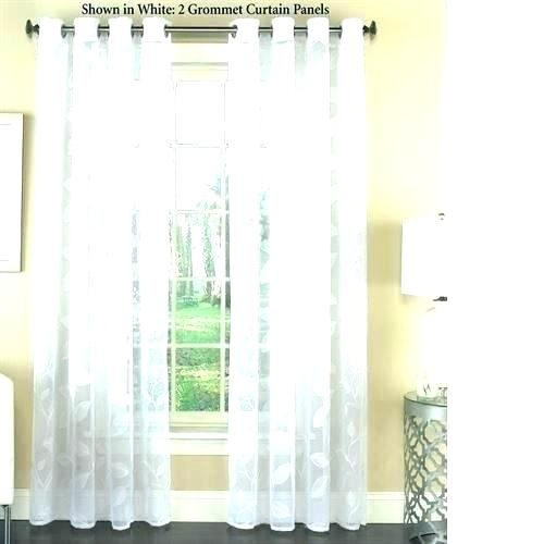 Inspiration about Lace Curtain Panels Cream 2 Inch Sheer Curtains Panel Pair With Ruffle Diamond Curtain Panel Pairs (#32 of 50)