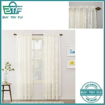 Lace Curtains Rod Pocket Style – $ (View 22 of 44)