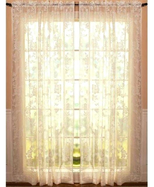 Lace Curtains Throughout Luxurious Old World Style Lace Window Curtain Panels (View 7 of 50)