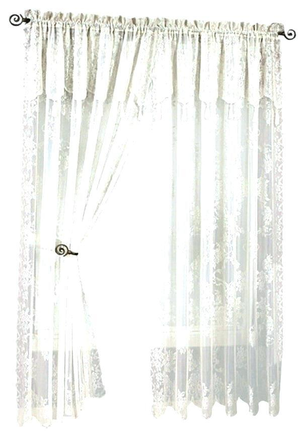 Inspiration about Lace Priscilla Curtains With Attached Valance – Clashroyale.club With Lydia Ruffle Window Curtain Panel Pairs (#39 of 43)
