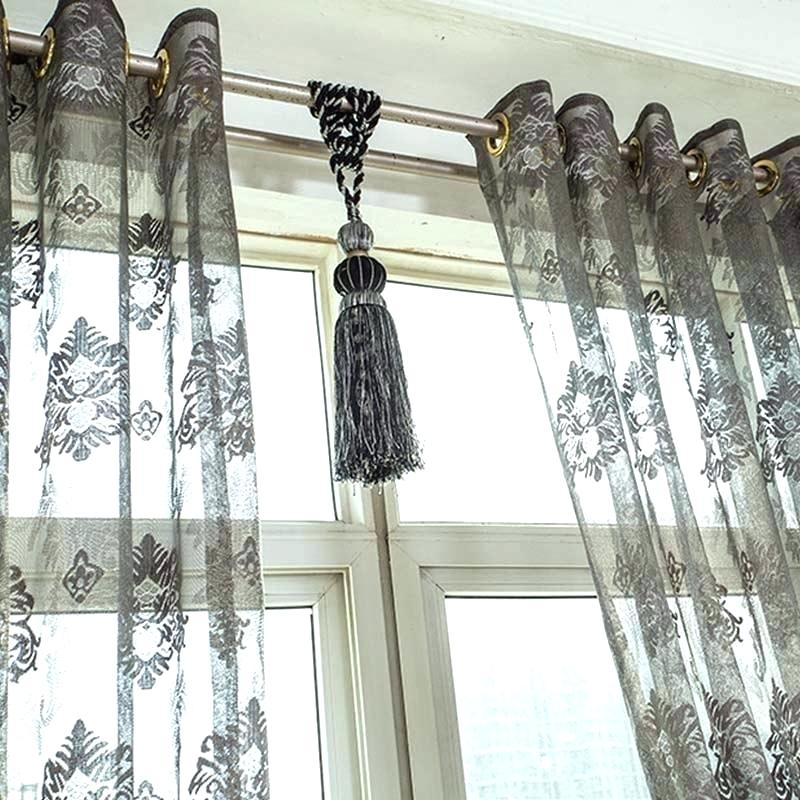 Lace Sheer Curtains Aurora Home Mix Match Blackout Tulle For Mix & Match Blackout Tulle Lace Bronze Grommet Curtain Panel Sets (View 25 of 50)