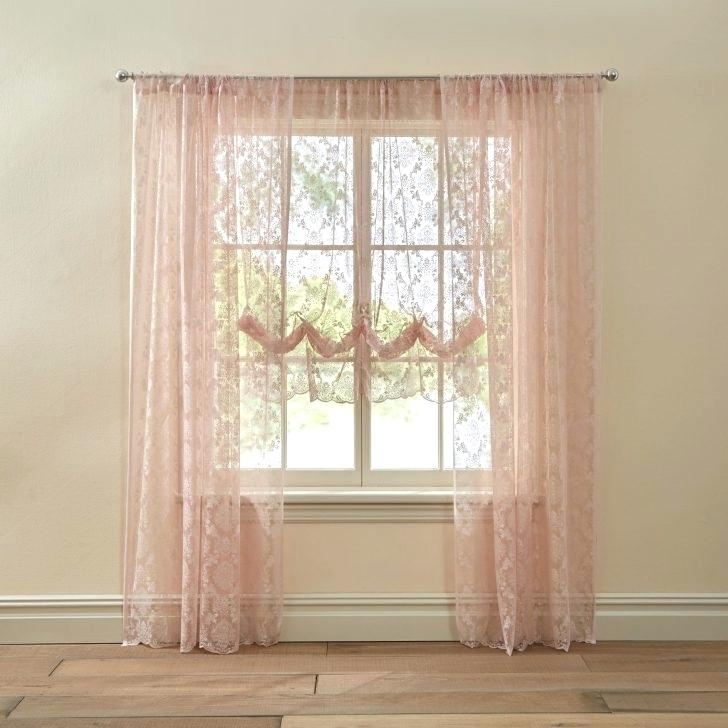 Lace Sheer Curtains Aurora Home Mix Match Blackout Tulle For Mix And Match Blackout Tulle Lace Sheer Curtain Panel Sets (#38 of 50)