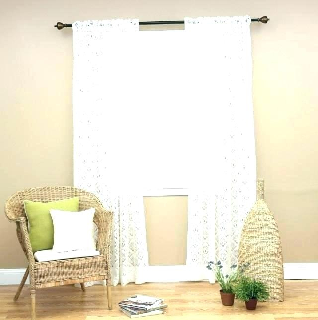 Lace Sheer Curtains Aurora Home Mix Match Blackout Tulle Within Mix & Match Blackout Tulle Lace Bronze Grommet Curtain Panel Sets (View 50 of 50)