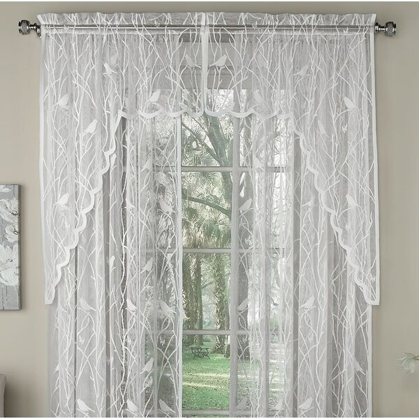 Inspiration about Lace Swags And Valances | Wayfair Within Luxurious Old World Style Lace Window Curtain Panels (#12 of 50)