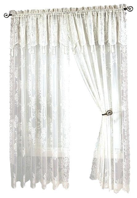 Lace Valance Curtains – Argotcomunicacion With Luxurious Old World Style Lace Window Curtain Panels (View 20 of 50)
