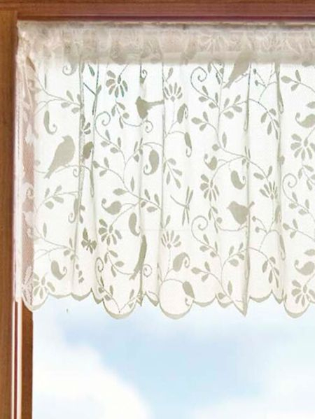 Lace Window Valance Alison Lace Window Valance With Alison Rod Pocket Lace Window Curtain Panels (View 23 of 44)