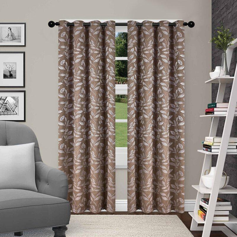 Lamons Nature/floral Blackout Thermal Grommet Curtain Panels Regarding Cooper Textured Thermal Insulated Grommet Curtain Panels (View 23 of 50)