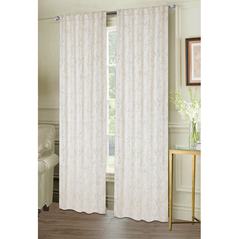Inspiration about Lamont Window Floral Room Darkening Panel Pair With Regard To Floral Pattern Room Darkening Window Curtain Panel Pairs (#7 of 44)